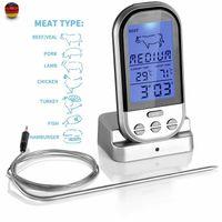 Melario Backofenthermometer Küchenthermometer Kerntemperaturmesser Fleischthermometer