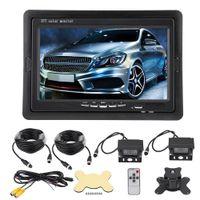 "7"" LCD Auto Monitor Rückfahrkamera Autokamera Einparkhilfe Set LKW Bus Funk Kabellos 4Pin Nachtsicht Kit"