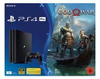 Sony PS4 Pro Konsole, 1TB, Schwarz + God of War