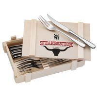 WMF Steakbesteck Cromargan 12 tlg. in Holzkiste