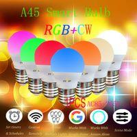 Smart WiFi Glš¹hbirne LED RGBColor Wechsel Kompatibel mit Amazon Alexa und Google Home Assistant E14