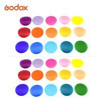 Godox V-11C Farbfilter-Kit Farbgelfilter 15 verschiedene Farben * 2 fuer Rundkopf-Blitzgeraete der Godox V1-Serie