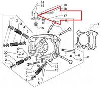 Piaggio Deckel Zylinderkopf 125, 200, 250 ccm