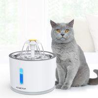 Katzen Trinkbrunnen, Trinkbrunnen für Hunde : Haustier Katzenbrunne rutschfest Automatisch Katze Wasserspender mit Nachtlicht  - 2,4L