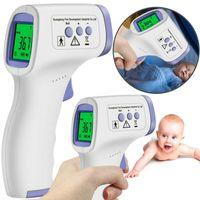Infrarot Thermometer genaue digitale berührungslose fieberthermometer stirn termometer für Erwachsene und Säuglinge LED hohe Helligkeit Körpermodus/Objektmodus Lagerbar 32 Gruppenmesswerte