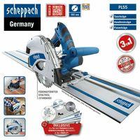 SCHEPPACH Sonderset -  Tauchsäge PL55 Handkreissäge inkl. 2x Führungsschiene + 2. Sägeblatt