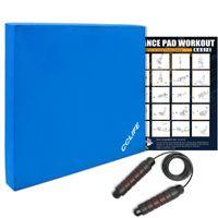 Balance Pad Kissen Matte Boards Gleichgewicht Trainer Latexband Koordination, Farbe:Schwarz. mit Springseil. ohne Latexband ohne Poster