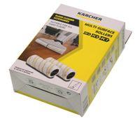 Kärcher 2.055-006.0 - Handheld vacuum - Walzenbürsten-Set - Weiß - Gelb - Mikrofaser - Kunststoff