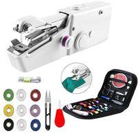 Tragbare Nähmaschine Elektrische Mini Handnähmaschine Nähen Stitch Werkzeug Set
