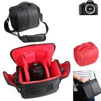 Für Canon EOS 2000D Kameratasche Fototasche Umhängetasche Schultertasche Zubehör Tasche für Canon EOS 2000D mit Zusatzfächern, Regenschutz und