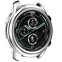 Watch Protective Bumper Case Plating Wasserdichte Rahmenabdeckung Shell Ersetzt TPU Protector in Silber für TicWatch Pro 3 Watch