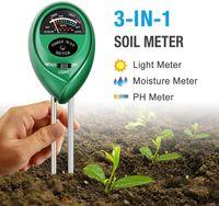 Miaoo Bodentester f/ür Garten Bauernhof keine Batterie erforderlich Rasen 3-in-1 Pflanzenfeuchtigkeitsmessger/ät Licht und pH-Wert Innen- und Au/ßenbereich