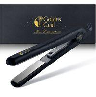 Golden Curl Keramik Glätteisen GL806 (Schwarz) 2 in 1 zum Glätten und Locken