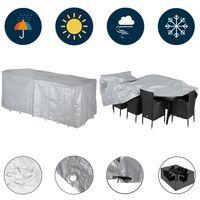 Schutzhülle Abdeckung Gartenmöbel Sitzgruppe Abdeckplane Bierzeltgarnitur Hülle, Größe:Sitzgruppe 8+1
