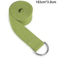Yogagurt  - für bessere Dehnung - für Anfänger und Fortgeschrittene - Yoga Gurt mit Verschluss aus Metall [183 * 3,8 cm]