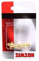 Simson Französisch-Adapter / Dunlop Gold 2 Stück