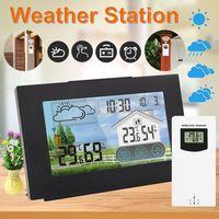 Wetterstation Thermometer Barometer Touchdisplay mit Außensensor Funk Uhr Wecker