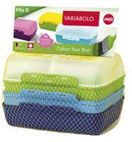 emsa Brotdose VARIABOLO Clipbox Set Boys 4-teilig farbig