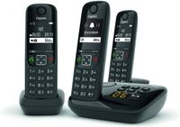 Gigaset AS690A Trio Schnurloses Telefon mit Anrufbeantworter, schwarz
