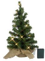 Best Season LED-Tannenbaum im Jutesack, ca.45 x 28 cm 10 warm white LED, batteriebetrieben, Timer, 600-51