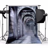 DE 5X7FT Hintergrundstoff Hintergrnde Schloss Fotohintergrund Studio Fotografie