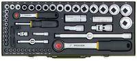 Proxxon Komplett-Steckschlüsselsatz 1 4 und1 2 56-teilig