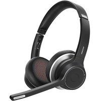 Mpow HC5 Bluetooth Headset, Wireless Headset, CVC8.0-Rauschunterdrückung, V5.0 Bluetooth Headset Mikrofon für Computer, Handy, Callcenter, Skype, 22-Stunden-Gesprächszeit (mit 3.5mm Audio-Kabel)