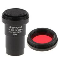 3X Barlowlinse Für Astronomisches Teleskop Okular Multi Coated + Filter # 25A