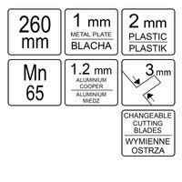 Blechknabber Zange 260mm YT-19260