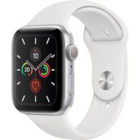 Apple Watch Series 5 44mm Alu Case silver Sportband, Farbe:Weiß