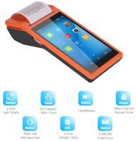 Aibecy All in One PDA Thermodrucker 58mm, Bluetooth Handheld Terminal Receipt Drucker Drahtlose WiFi tragbare Drucker Unterstützt BT / WiFi / USB OTG / 3G-Kommunikation 【Orange, EU】Android POS