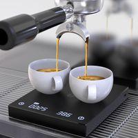 Digitale Kaffeewaage 3kg/0.1g mit Timer Küchenwaage Digital Elektronische Waage Multifunktion Tragbare Digital-Kaffee-Skala für Espresso und Filter Elektrische Schmuckskalen Lebensmittelwaage in Schwarz