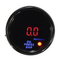 52mm Auto LED Digital Öldruckanzeige Öldruckmesser Gauge Turbo 0-10Bar + Sensor