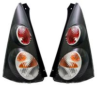 Rückleuchten Set für Peugeot 107 Citroen C1 Heckleuchten Schwarz links + rechts