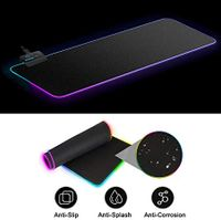 RGB-Gaming-Mauspad ,Großes Mauspad mit beleuchteter Teppich-Tastatur