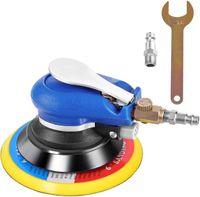 COSTWAY Druckluft Exzenterschleifer Schleifmaschine Multischleifer Poliermaschine mit Anschlussventil, Schraubenschluessel / 15 cm Scheibe / 10.000 U/min. / 6,3 bar / 350l/h