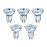 OSRAM LED BASE PAR16 50 (36°) FS Warmweiß SMD Klar GU10 Spot 5er Pack
