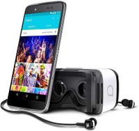 Alcatel Idol 4 6055P Dark Gray Smartphone + Virtual Reality VR Brille Neuversiegelt