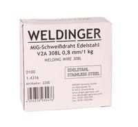 MIG V2A  0,8 mm 1,0 kg Edelstahlschweißdraht  308L 1.4316 WELDINGER