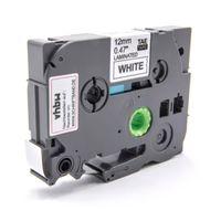vhbw Kassette Patronen Schriftband 12mm weiß flexibel kompatibel mit Brother P-Touch E100, E100VP, H100LB, H100R, P700 Ersatz für TZ-FX231, TZE-FX231