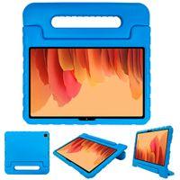 iMoshion kompatibel mit Samsung Galaxy Tab A7 Hülle – Tablethülle für Kinder – Tablet Kids Case in Blau mit Handgriff und Ständer [Robust, Griffig, Stoßfest]