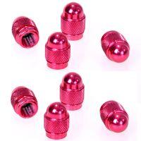 8er Set Ventilkappen Aluminium Pink | Auto PKW Alu Ventil Kappen | Metallventilkappen Ventilzierkappen Ventildeckel