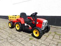 Kinder Elektroauto Traktor Kinderauto Trecker Kinderfahrzeug Elektro 2x25 W Rot