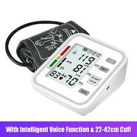 JZ-254A Oberarm-Blutdruckmessgeraet mit grosser Manschette / LCD-Bildschirm / 2-Benutzer-Modus / Intelligente Sprachfunktion Automatisches Blutdruckmessgeraet / Blutdruckmanschette / intelligentes Blutdruckmessgeraet zur Erkennung von unregelmaessigem Herzschlag