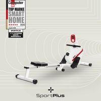 SportPlus Rudergerät für zu Hause, Rudermaschine klappbar, Leises Magnetbremssystem, Kugelgelagerter Rudersitz, SP-MR-008