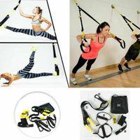 Schlingentrainer Set für Krafttraining zuhause Sling Trainer mit Türanker für Ganzkörpertraining, Trainingsband mit Griffen für Home Training und Workout