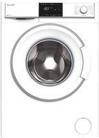 Sharp ES-HFB914AWA-DE Waschmaschine Frontlader/C / 9 kg / 1400 U/min/Advanced Inverter Motor/Allergy Smart / 15 Programme inkl. 15 min Kurzprogramm/AquaStop/Weiß