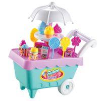 Elektronische Eiswagen + Eiscreme Set für Kinder Rollenspiel, aus Plastik