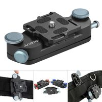 Andoer Metall Quick Release Kamera Gürtel Strap Schnalle, um Berg-Clip für Canon Nikon Sony DSLR-Kameras Max. Belastbarkeit 20 kg
