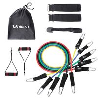 Unibest Fitnessbänder Expander Widerstandsbänder Set mit 5 Fitness Tube JL3080
